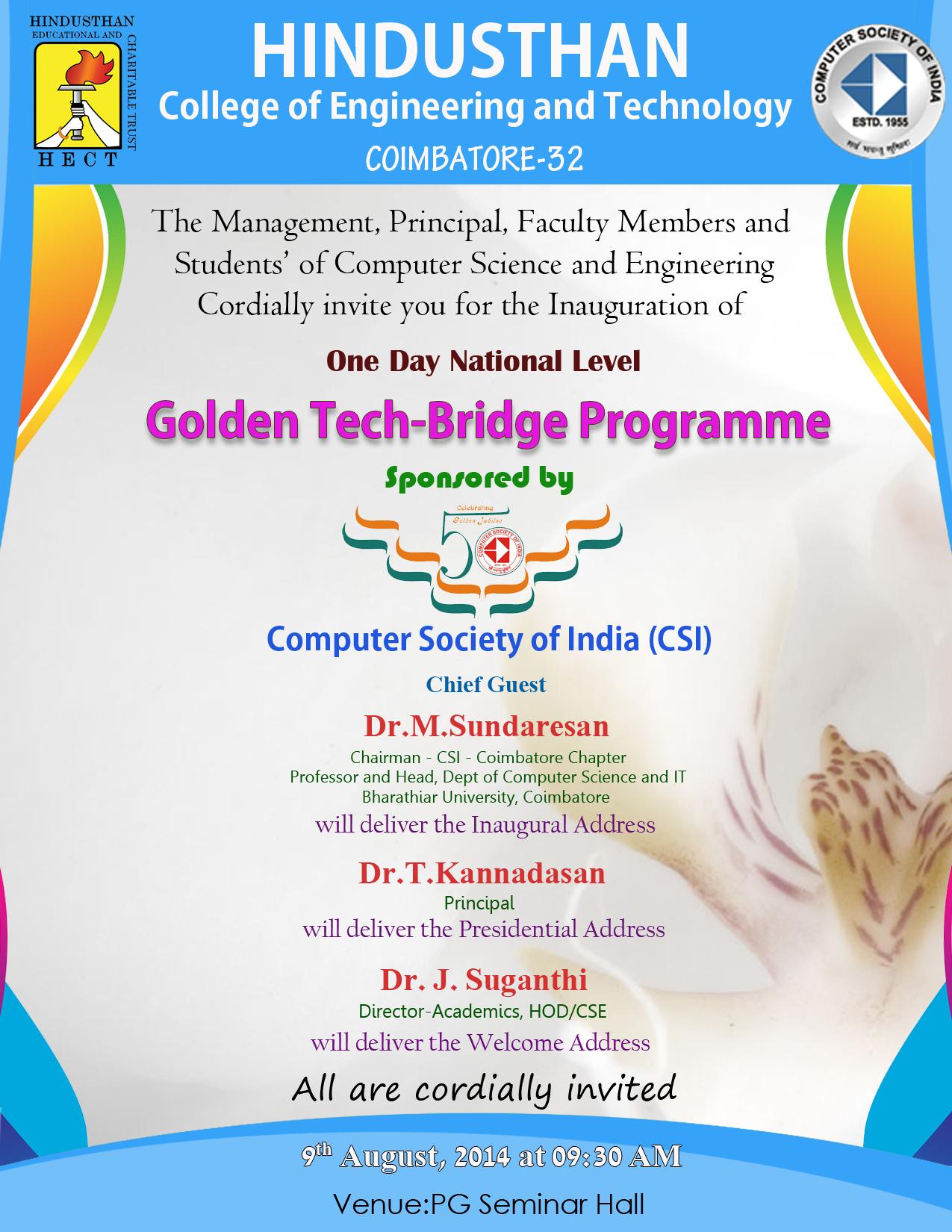 Computer Society Of India Coimbatore Chapter Coimbatore Tamilnadu